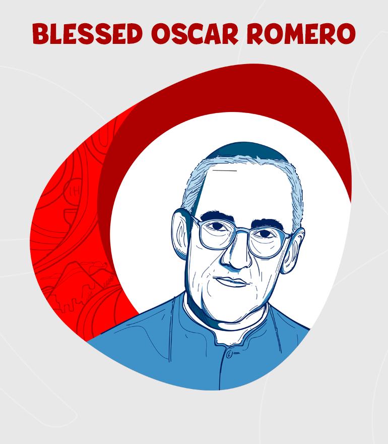 BEATO OSCAR ARNULFO ROMERO DIBUJO-en