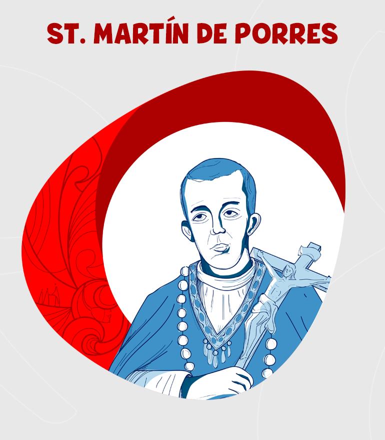 SAN MARTÍN DE PORRES DIBUJO-en