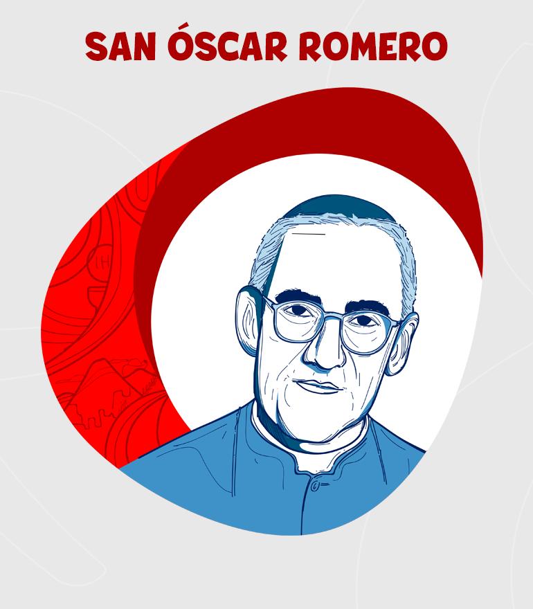 SANOSCAR ARNULFO ROMERO DIBUJO