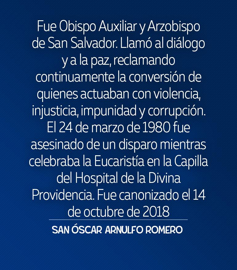SANOSCAR ARNULFO ROMERO